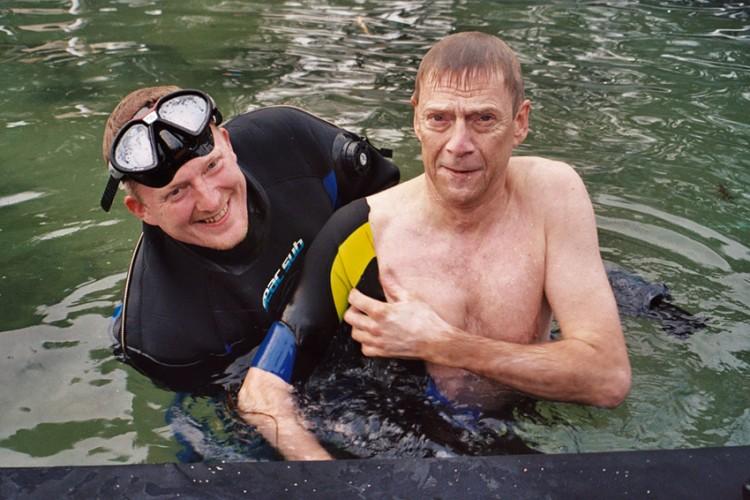 Dennis Albrethsen og Jesper Christensen i vandet -Drabet 2004
